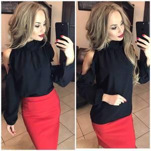 Блуза с длинным рукавом Ф9791