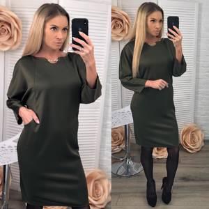 Платье короткое нарядное зеленое Ф5420