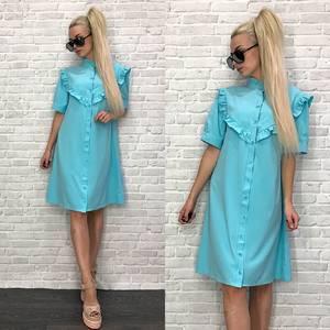 Платье короткое нарядное однотонное Т9558