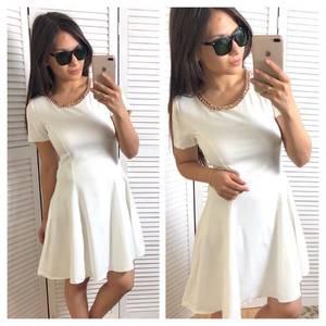 Платье короткое коктейльное белое Т4340