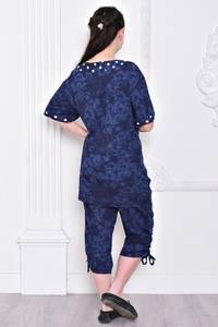 Костюм модный трикотажный синий С9307