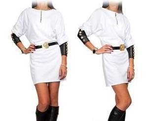 Платье короткое белое Ю2809