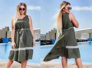 Платье короткое летнее повседневное Т6128