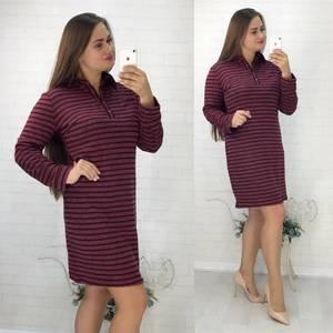 Платье короткое повседневное с длинным рукавом У0847