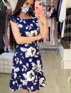 Платье короткое с принтом А16982
