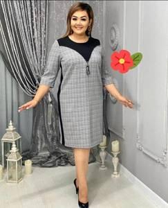 Платье короткое деловое А17944