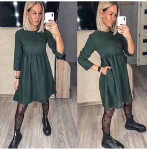 Платье короткое с рукавом 3/4 А30845