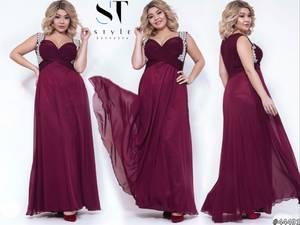 Платье длинное нарядное А02648