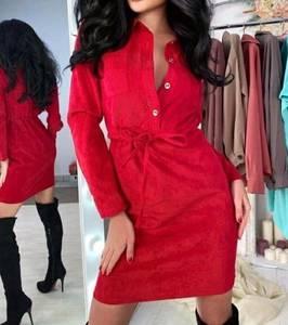 Платье короткое с длинным рукавом А11534