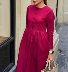 Платье короткое с длинным рукавом А10951