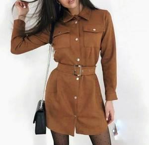Платье короткое с длинным рукавом А10606