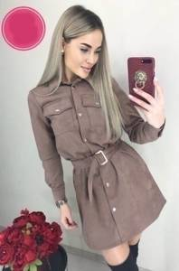 Платье короткое с длинным рукавом А10608