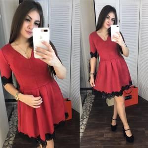 Платье короткое коктейльное Ш6761