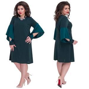 Платье вечернее нарядное с длинным рукавом современное Ш9277
