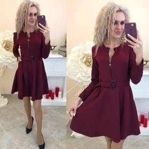 Платье короткое с длинным рукавом Ю4667