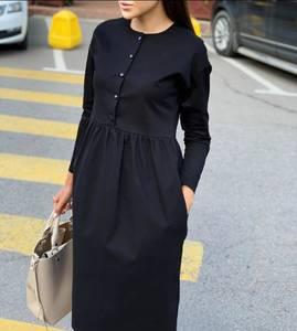 Платье короткое с длинным рукавом А10952