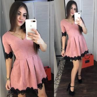 Платье короткое современное Ш6762