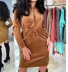 Платье короткое с длинным рукавом А11531