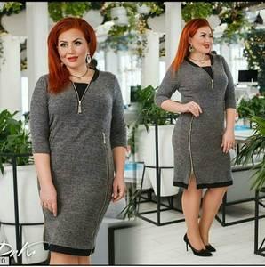 Платье короткое однотонное А16550