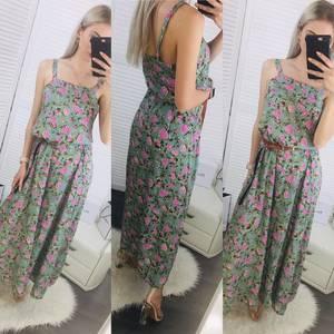 Платье длинное с принтом Ц6479
