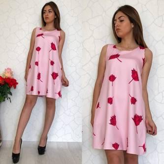 Платье короткое нарядное Ц7376
