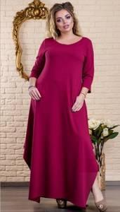 Платье длинное однотонное Ц6488