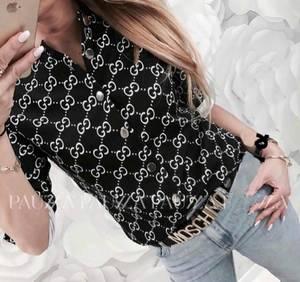 Рубашка с принтом Ц6604