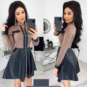 Платье короткое с длинным рукавом А33711