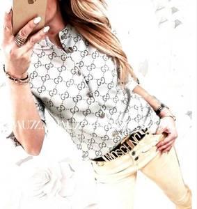 Рубашка с принтом Ц6605