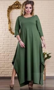 Платье длинное однотонное Ц6490