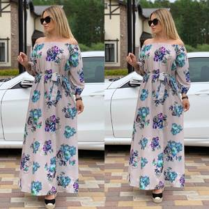 Платье длинное с принтом Ц6727