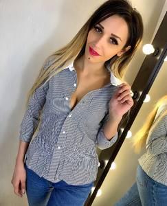 Рубашка в полоску Ц6421