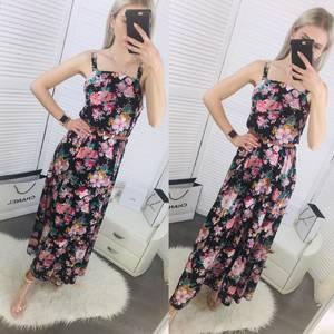 Платье длинное с принтом Ц6481