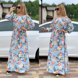 Платье длинное с принтом Ц6728