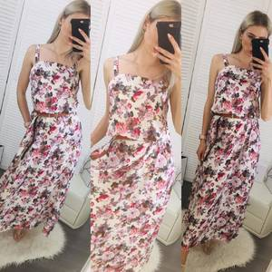 Платье длинное с принтом Ц6482