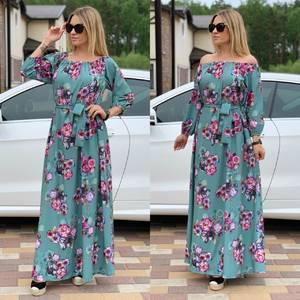 Платье длинное с принтом Ц6729