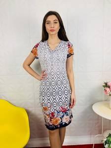 Платье короткое с принтом Ц7594