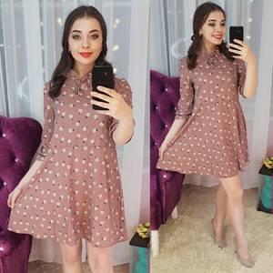 Платье короткое нарядное Ц6598