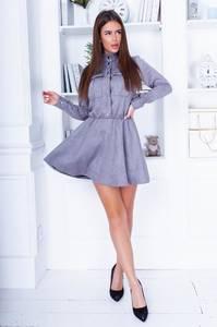 Платье короткое с длинным рукавом А33706