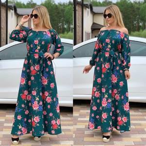 Платье длинное с принтом Ц6731