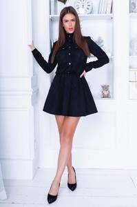 Платье короткое с длинным рукавом А33707