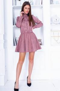 Платье короткое с длинным рукавом А33708