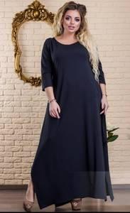 Платье длинное однотонное Ц6486
