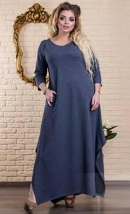Платье длинное однотонное Ц6487