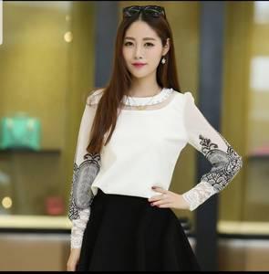 Блуза с длинным рукавом Ц6403