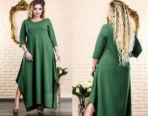 Платье длинное нарядное однотонное Х1974