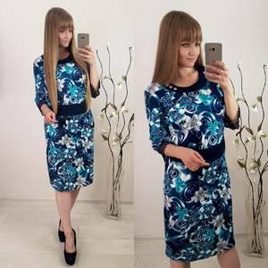 Платье короткое с принтом Ф1506