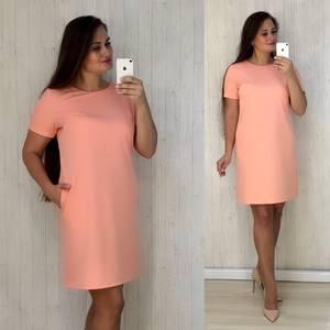 Платье короткое однотонное повседневное У9102