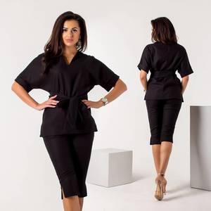 Костюм модный классический черный У9108