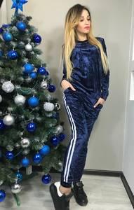 Костюм брючный модный синий Ф8920